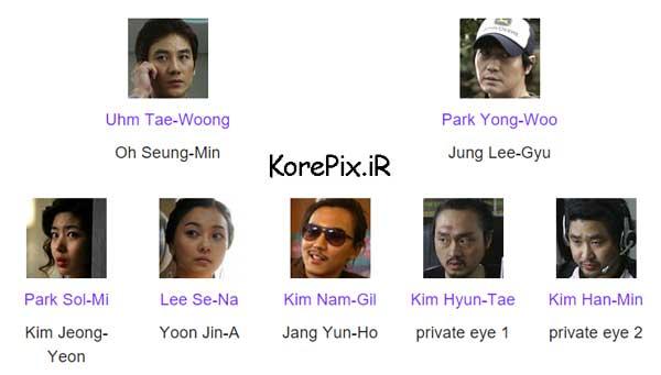 لیست بازیگران فیلم کره ای تلفن همراه