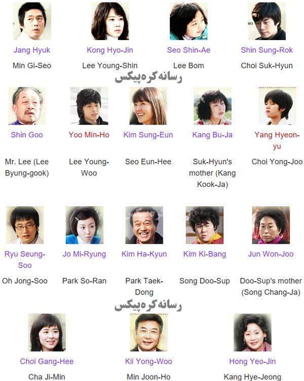 اسامی بازیگران و نقش آنها در سریال متشکرم
