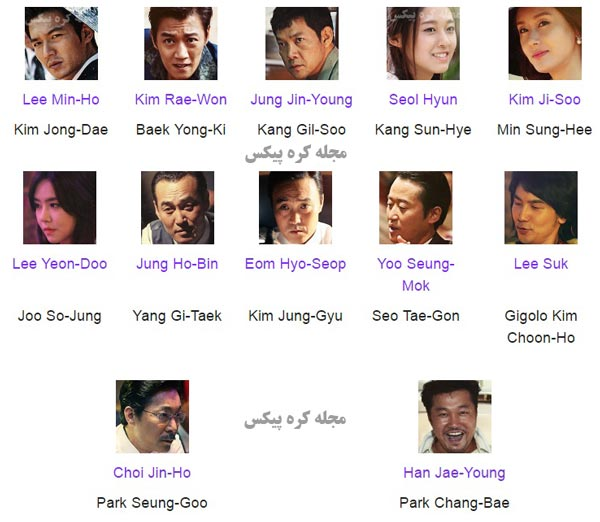 لیست بازیگران فیلم منطقه گنگنام