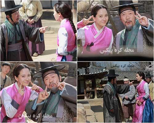 عکس پشت صحنه سریال کره ای فراری از قصر