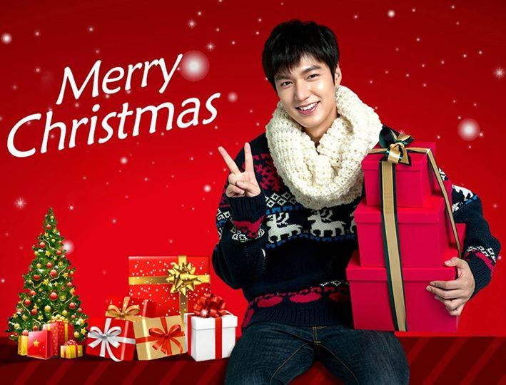 عکس های لی مین هو برای تبریک کریسمس