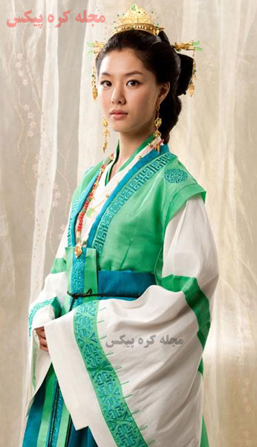 بانو هوانگ اوک همسر سورو در سریال سرزمین آهن