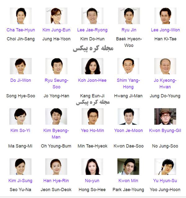 عکس همه بازیگران سریال کره ای پزشکان جوان